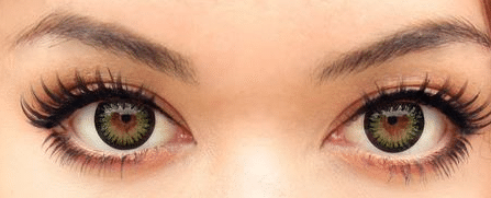 best green contacts on brown eyes