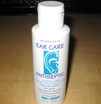 Ear care antiseptic solution