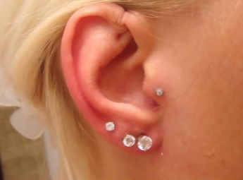 Tragus ear piercing care